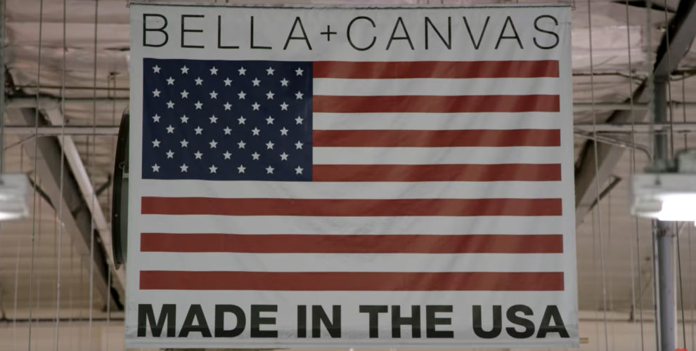 COVID-19 USA strong manufacturing BELLA+CANVAS